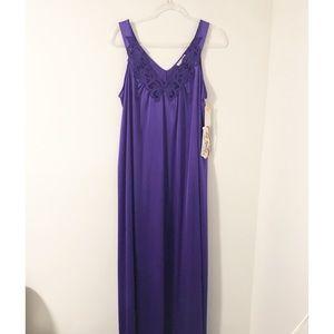 Vintage Vanity Fair Maxi Satin Nightgown